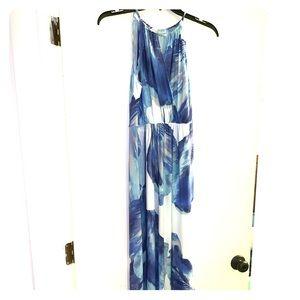 Summer dress, Blue, floor length, sun dress size 6